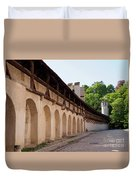 Old City Wall In St Alban Basel Switzerland Duvet Cover