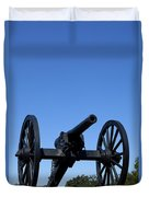Old Civil War Cannon Duvet Cover