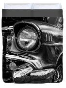 Old Classic Car In Black And White Duvet Cover