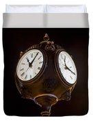 Old Clock Duvet Cover