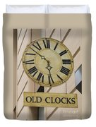 Old Clocks Duvet Cover