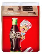 Old Coca-cola Red And White Coke Machine Vintage Vendo Model 44  Duvet Cover