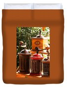 Old Coffee Grinders Duvet Cover
