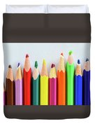 Old Colored Pencils Duvet Cover
