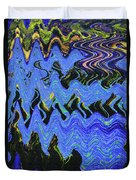 Old Columbia River Water Front Abstract Duvet Cover