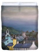 Old Copper Mining Town Duvet Cover