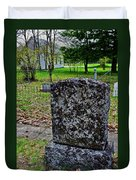 Old Country Cemetery Duvet Cover