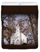 Old Country Church In Alabama Duvet Cover