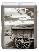 Old Country Wagon Duvet Cover