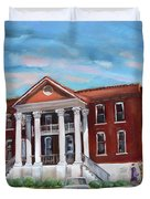 Old Courthouse In Ellijay Ga - Gilmer County Courthouse Duvet Cover