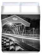 Old Covered Bridge  Duvet Cover