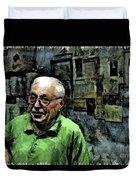 Old Craftsman Portrait Duvet Cover