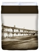 Old Cuartel. Mexican Soldiers Barracks Monterey Circa 1885 Duvet Cover