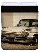Old Desoto In Sepia Duvet Cover