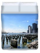 Old Docks Duvet Cover
