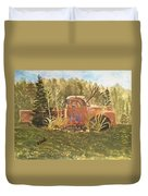 Old Dodge Truck In Garden Duvet Cover