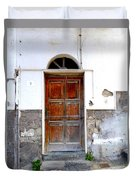 Old Door In Sorrento Duvet Cover