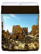 Old Doors Kinishba Ruins Duvet Cover