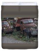 Old Dumptrucks Duvet Cover