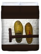 Old Dutch Wooden Shoes Duvet Cover