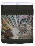 Old Ecuadorian Currency Duvet Cover