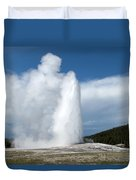 Old Faithful Erupts Duvet Cover