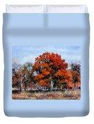 Old Fall Oak Duvet Cover