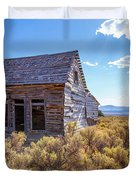 Old Farm House Widtsoe Utah Ghost Town Duvet Cover