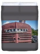 Old Farmall Tractor Grill And Nameplate Duvet Cover