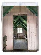 Old Farmhouse Interior Iceland Duvet Cover