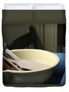 Old Fashioned Baking Tools Duvet Cover
