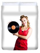 Old Fashioned Music Duvet Cover