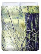 Old Fence Post Duvet Cover
