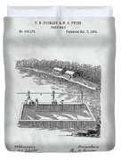 Old Ferryboat Patent Duvet Cover