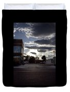 Old Fire House At Sunset - 200370 Duvet Cover