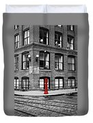 Old Fire Hydrant In Dumbo Brooklyn Duvet Cover