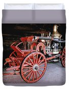 Old Fire Truck Duvet Cover