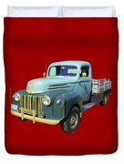 Old Flat Bed Ford Work Truck Duvet Cover