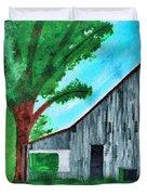 Old Florida Barn Duvet Cover