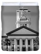 Old Florida Capitol In Black And White  Duvet Cover