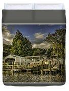 Old Florida Duvet Cover