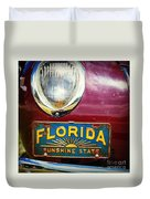 Old Florida Duvet Cover