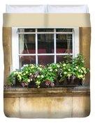 Old Flower Box Duvet Cover