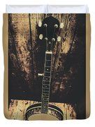 Old Folk Music Banjo Duvet Cover