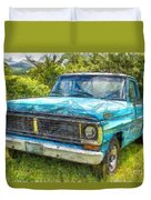 Old Ford Pick Up Truck Pencil Duvet Cover