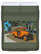 Old Ford School Bus No. 32 Duvet Cover