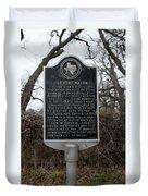 Old Fort Mason Historical Marker Duvet Cover