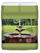 Old Fountain Duvet Cover