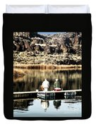 Old Friends Fishing Duvet Cover