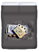 Old Gambling Articles Duvet Cover
